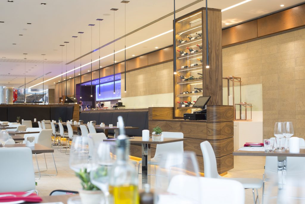 Dining Area at Manchester Melia Hotel